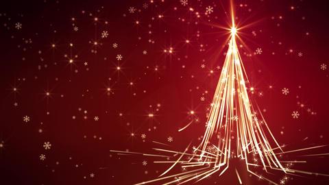 Red Streaks Christmas Tree Animation
