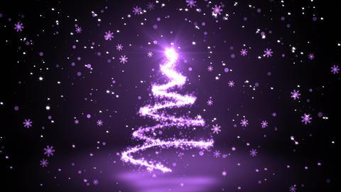 Purple Glittering Sparkles christmas Tree Animation