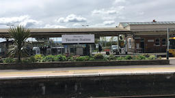 Express train passing through Taunton station Taunton Somerset UK Footage