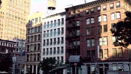 New York City 614 West Broadway in downtown with typical houses Footage