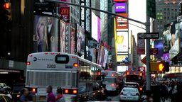New York City 617 Manhattan times square 7th avenue in the evening Footage