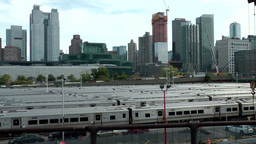 New York City 622 trains on sidings at Hudson Yards; Chelsea Footage