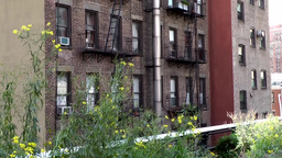 New York City 634 homes of Chelsea along High Line walkway Footage