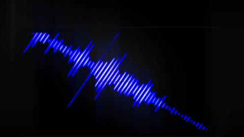 Waveform (Blue and white) Animation