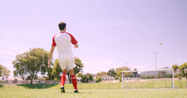 Football player kicking the ball Footage