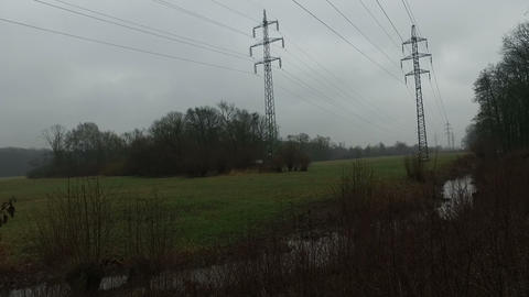 Electricity Pylons Footage