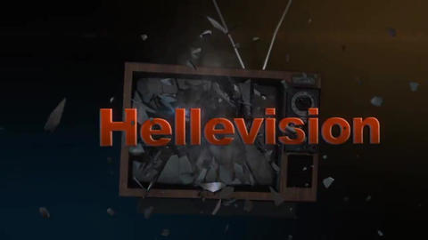 Hellevision - Exploding TV Logo Stinger After Effectsテンプレート