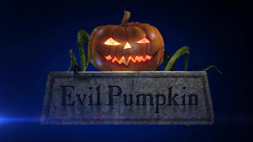 Evil Pumpkin - Halloween Pumpkin Horror Logo Stinger After Effects Project