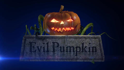 Evil Pumpkin - Halloween Pumpkin Horror Logo Stinger After Effects Template