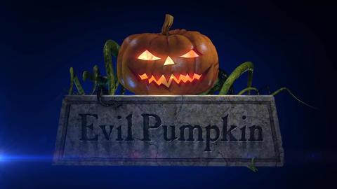 Evil Pumpkin - Halloween Pumpkin Horror Logo Stinger After Effectsテンプレート