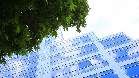 Blue Offices Building stock footage