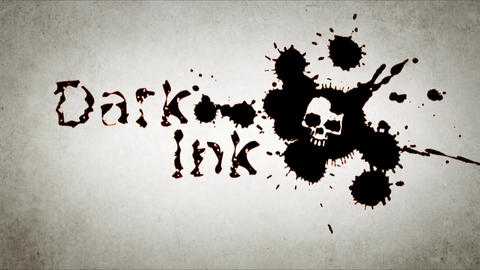 Dark Ink - Ink Blots Logo Reveal After Effectsテンプレート