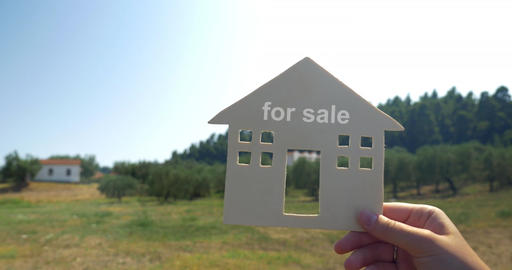 House for sale advert Footage