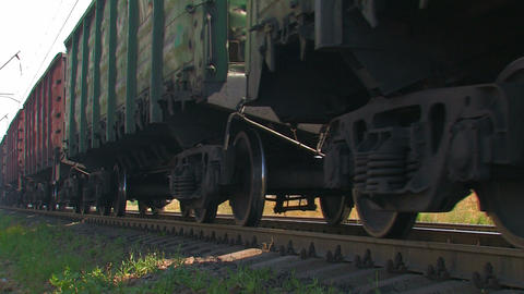 Cargo Train in Motion Live Action