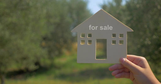 Summer house for sale advertising Footage