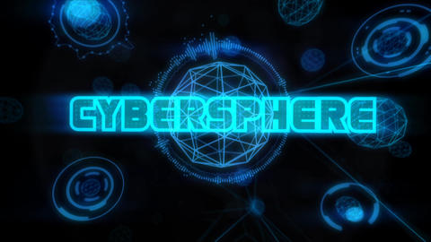 Cybersphere - Hi-Tech polygon Spheres logo opener After Effects Template