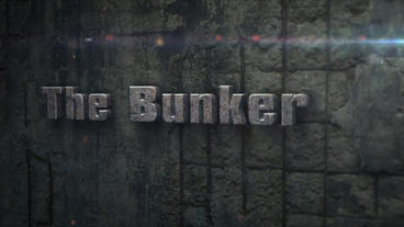 The Bunker - Concrete Bunker Logo Opener stock footage