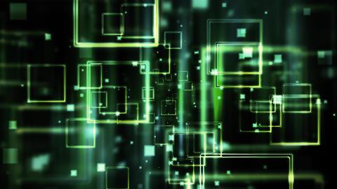 Tech Tunnel Data Stream Animation