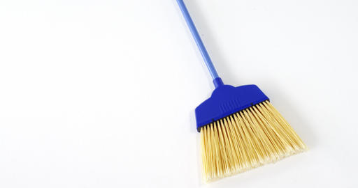 Broom with plastic handle Footage