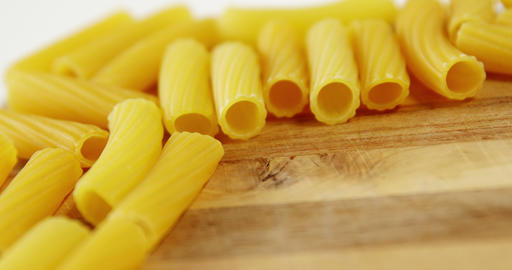 Close-up of penne and conchiglie pasta Footage