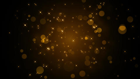 Golden Sparkling Glitters Animation