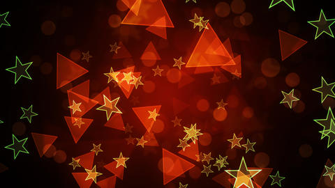Party Stars and Triangles Animation