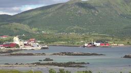 Norway Lofoten Vestvågøy island Leknes small industrial facilities ビデオ