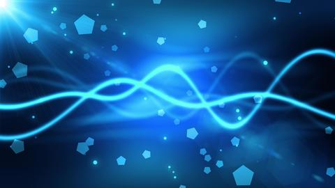 Frozen Wave Particles Animation