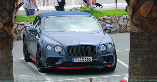 Luxurious Bentley Continental GT Cabriolet In San Remo Italy Footage