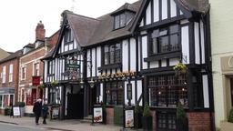 Tudor built inn Stratford upon Avon Warwickshire UK GIF