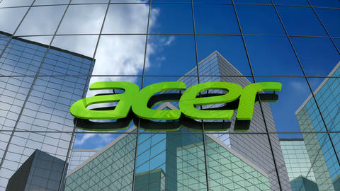 Editorial, Acer Inc. logo on glass building Animation