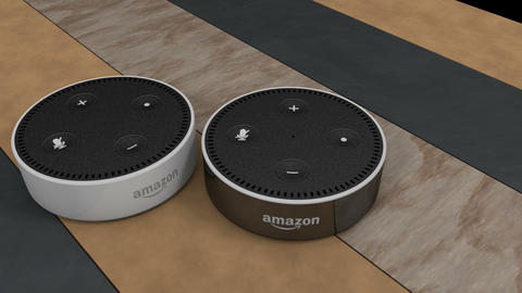 Editorial, Amazon Echo Dot device Animation