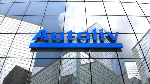 Editorial, Autoliv Inc. logo on glass building Animation