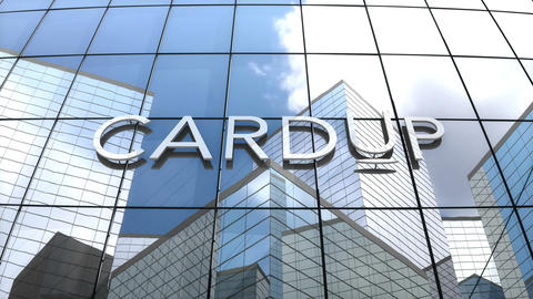 Editorial, CardUp logo on glass building Animation