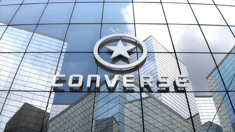 Editorial, Converse, Inc. logo on glass building Animation