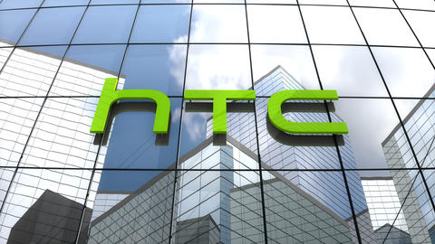 Editorial, HTC Corporation logo on glass building Animation
