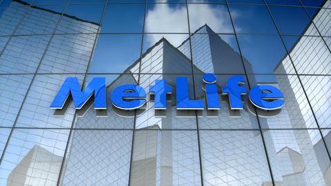Editorial, MetLife, Inc. logo on glass building Animation