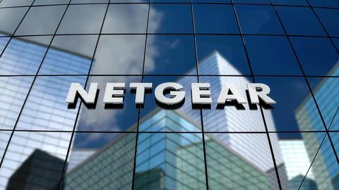 Editorial, Netgear Inc. logo on glass building Animation