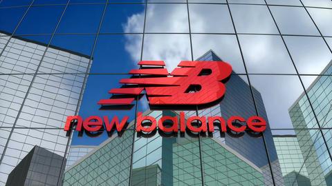 Editorial, New Balance Athletics, Inc. logo on glass building Animation
