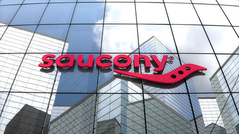 Editorial, Saucony logo on glass building Animation