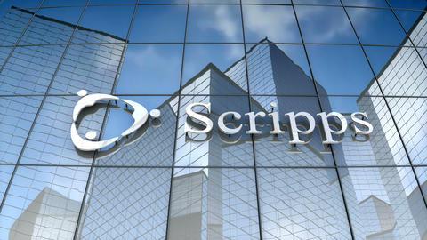 Editorial, Scripps Health logo on glass building Animation