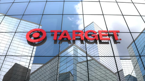 Editorial, Target Corporation logo on glass building Animation
