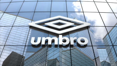 Editorial, Umbro logo on glass building Animation