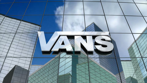 Editorial, VANS logo on glass building Animation