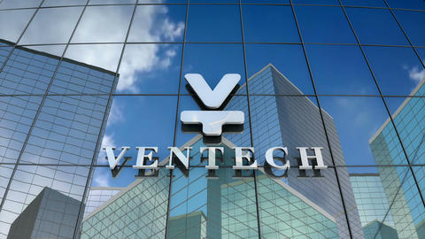 Editorial, Ventech logo on glass building Animation