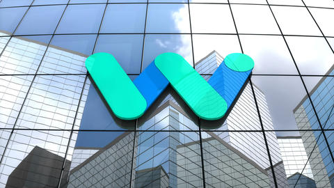 Editorial, Waymo LLC logo on glass building Animation