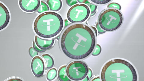 Tether coin, Digital currency animation Animation