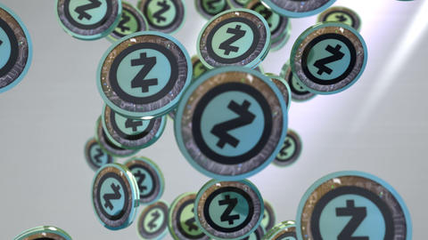Zcash coin, Digital currency animation Animation