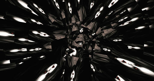 Digital Animation of kaleidoscopic Faces CG動画素材