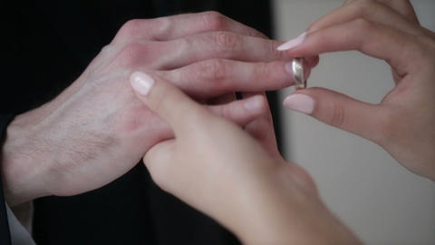 Couple with wedding rings Footage